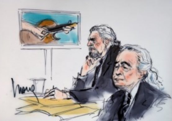 Jimmy Page courtroom sketch