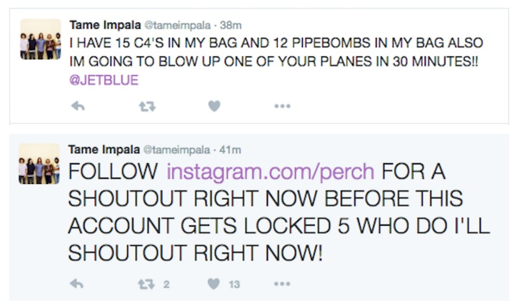 Tame Impala Twitter hoax copy