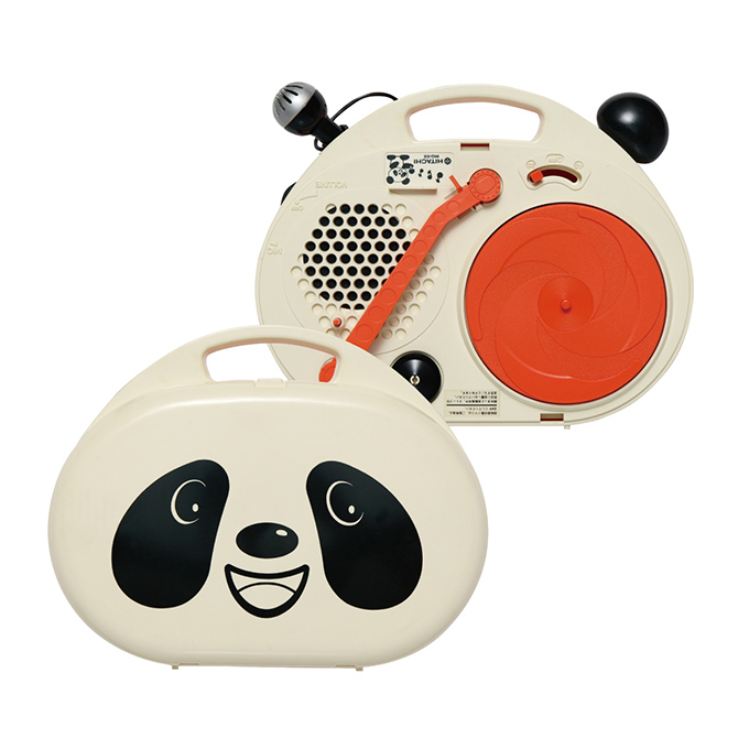 Portable record player - panda