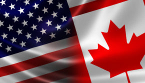 american-canadian-flags