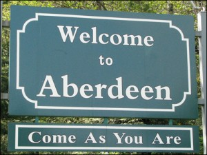 Aberdeen Kurt Cobain sign