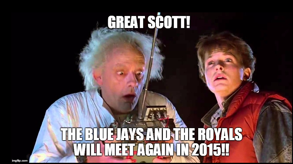 Back to the Future II Jays-KC meme
