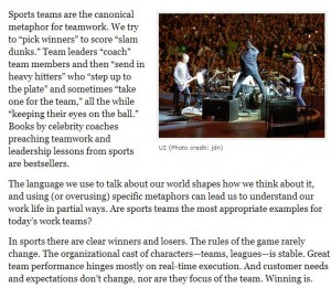 Bands vs. Sports Teams
