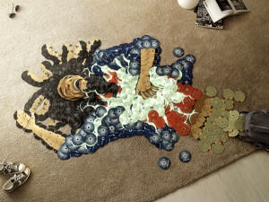 Bob Marley made from CDs
