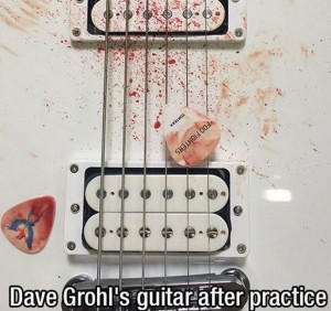 Dave Grohl (After band practice)
