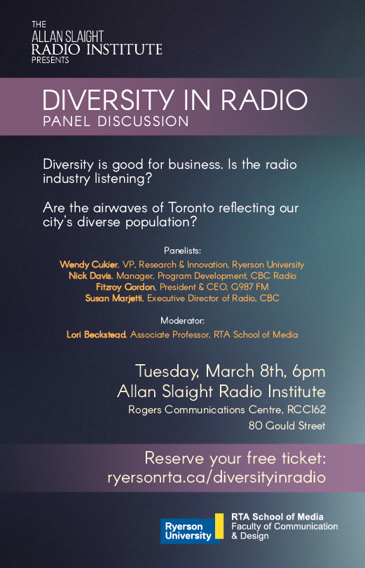 DiversityinRadioPoster_March8PanelDiscussion