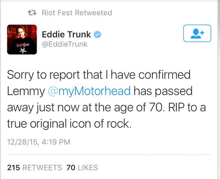 Eddie Trunk - Lemmy RIP copy