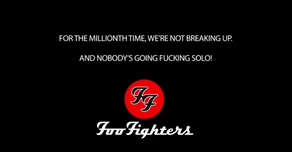 Foo Fighters not breaking up copy