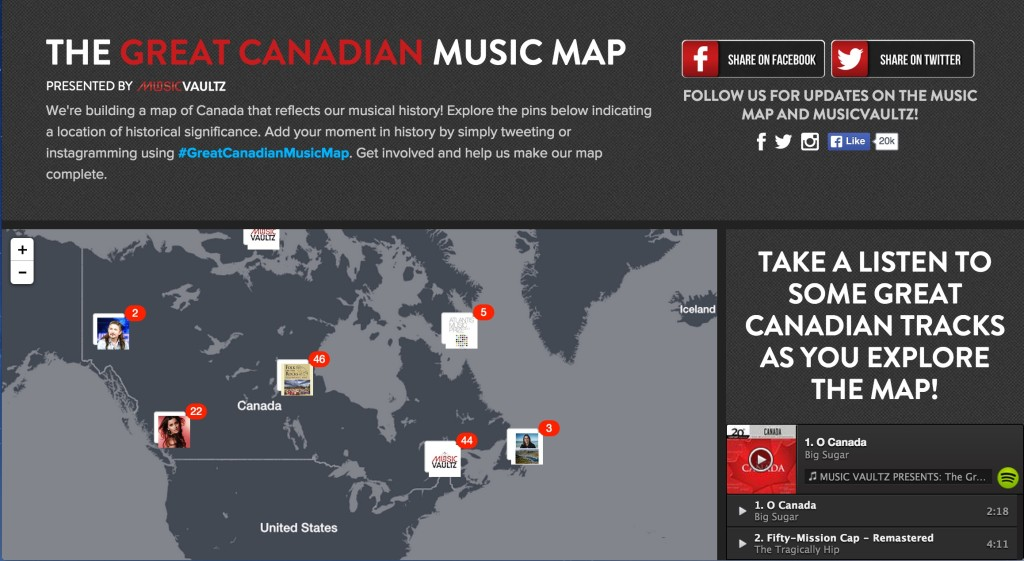 A Journal Of Musical Thingsthe Great Canadian Music Map This Is Cool A Journal Of Musical Things