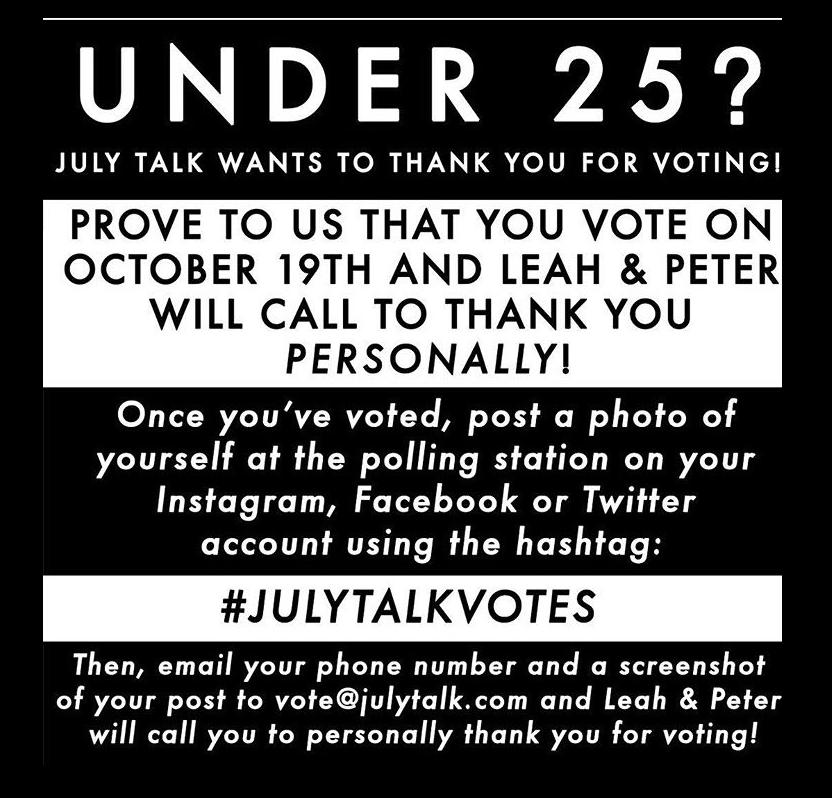July Talk Vote Campaign