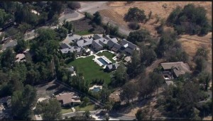 Kim and Kanye's lawn 1