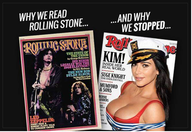 Rolling Stone then and now