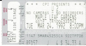 U2 ticked stub MLG 199